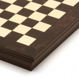 Schachbrett Box aus Walnussholz und Ahornholz eingelegt natürlich glänzend