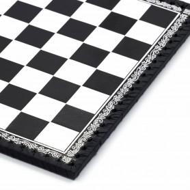 Schachbrett Kunstleder Farbe weiß und schwarz handeingelegt