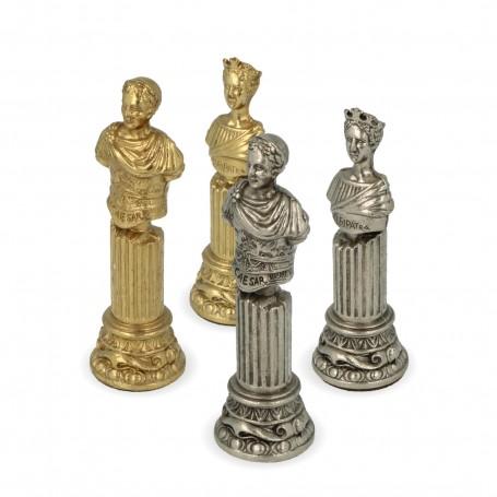 Schachfiguren kaiserliches Rom aus Zamak von Hand verarbeitet handgemachte Realisierung