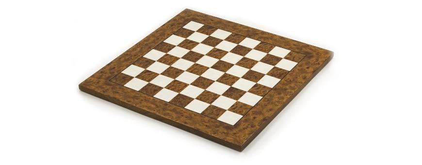 Schachbretter aus Wurzelholz