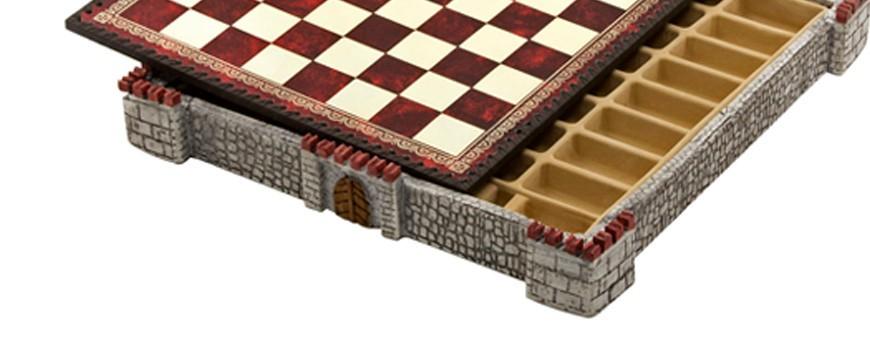 Schachbretter aus Kunstleder